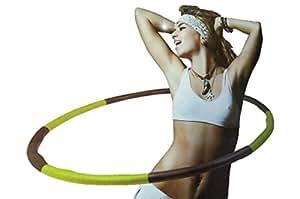 ( ELEFANG ) くびれ美人♪ 【 マッサージ フラフープ 】 シェイプアップ エクササイズ フィットネス トレーニング / 組み立て式 / 外周スポンジコーティング