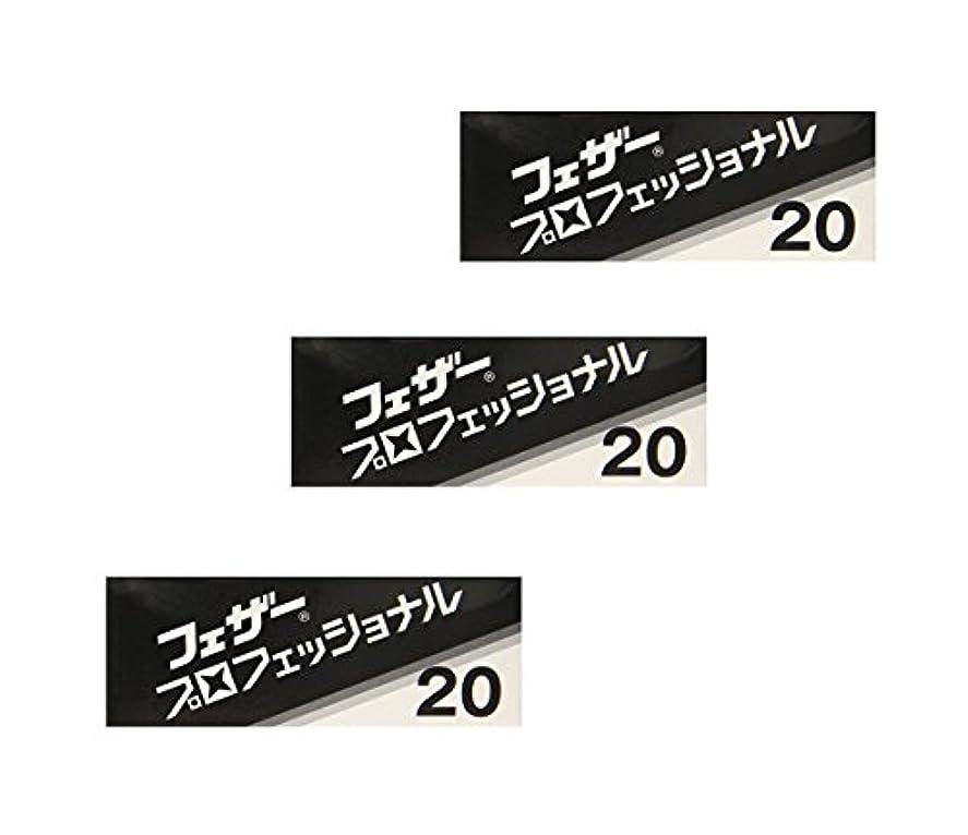 司令官レールスプリット【3個セット】 フェザー プロフェッショナルブレイド 20枚入 PB-20