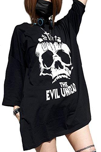 HELLCATPUNKS Tシャツ メンズ レディース 7分袖 おもしろ 大きい V系 パンク ロック バンギャ KERA T-0027