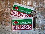 Carburatori Dellorto Sticker デロルト ロゴ ステッカー シール デカール 海外限定 70mm x 40mm 2枚セット [並行輸入品]