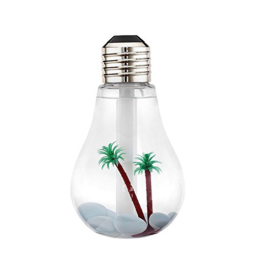 RoomClip商品情報 - Lifbetter 加湿器 400ml容量 電球型 LEDライト付き 静音 焚き防止 花粉症予防 卓上加湿器