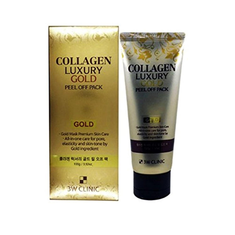 蒸投資する変装した【韓国 3W CLINIC】COLLAGEN LUXURY GOLD PEEL OFF PACK 100g