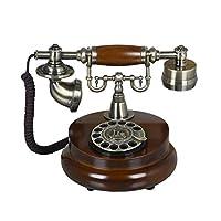 SDV レトロ固定電話/ヨーロッパスタイルの家の固定電話アンティークのファッション金属の固体の電話ブラウン