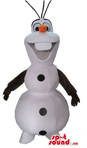 キャロット鼻の雪だるまの漫画のキャラクターをマスコットカナダの衣装仮装をSpotSound