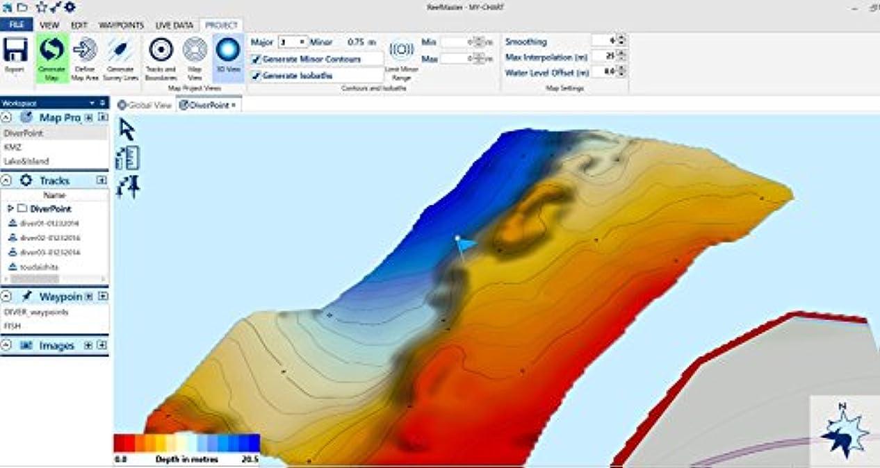 導入するブローバンドルリーフマスターV2.0 海底地形図作成ツール 詳細マニュアル付き Lowrance用