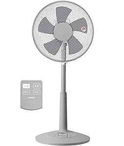 山善 扇風機 30cm リビング扇 ワイヤレスリモコン 風量調節3段階 タイマー機能付き グレー YLR-C30(GY)