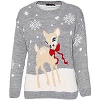 Momo&Ayat Fashions Ladies Sweet Deer Christmas Boucle Jumper AUS Size 8-18
