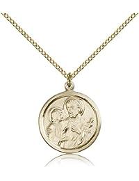 セント?ジョセフメダル – ゴールドメッキペンダントセント?ジョセフIncluding 18インチネックレス