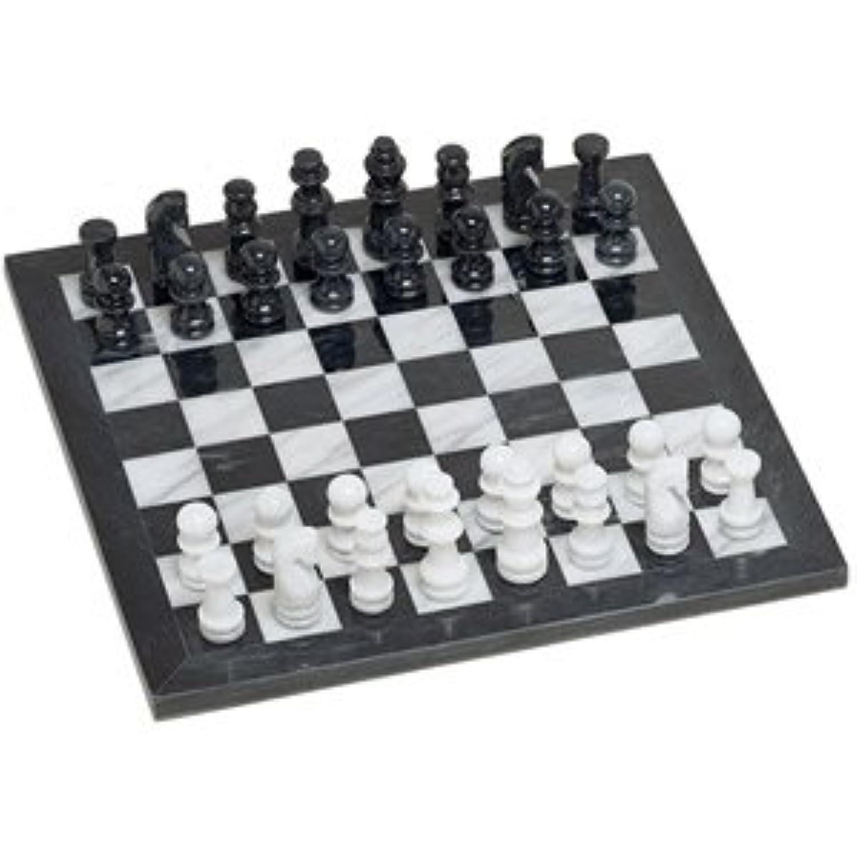 Black/White Marble Chess Set