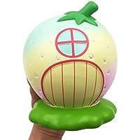 cinhentおもちゃレインボーStrawberry家チャームSlow Rising Squeeze Kids Fun Playおもちゃ装飾ギフト 12x12.5x16cm マルチカラー CINHENT-1560859