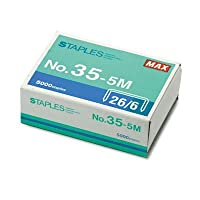 Max USA Flat Clinch Staples for MXBHD50DFBK, MXBHD50DFGY (MXB355M) Category: Staples by Maxテつョ
