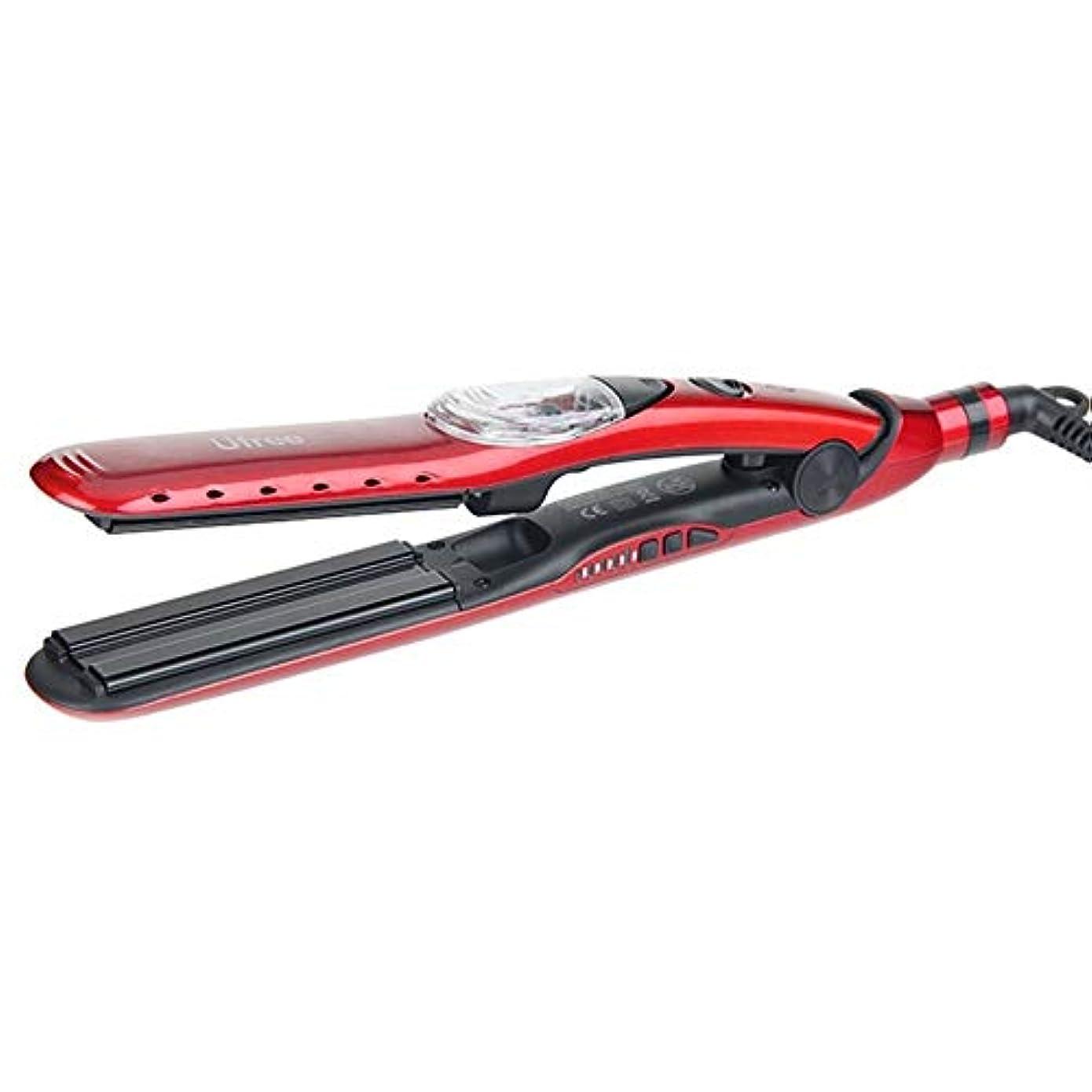 近々アメリカ疑問に思うスチームストレイテナーストレートローラーデュアルユースアトマイズスプリントトルマリンセラミックパーマ水タンクレッドブラックパーティースタイルのあらゆるタイプの髪に最適 (Color : Red)