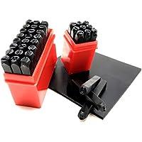 sac taske 刻印セット 刻印 ポンチ 数字 + アルファベット 打刻印 金属 革 & ゴムマット (5mm 36本)