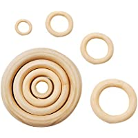 Yiwa 15~100mm Fashion Simple Wooden Ring DIY Jewelry Bracelet Accessories