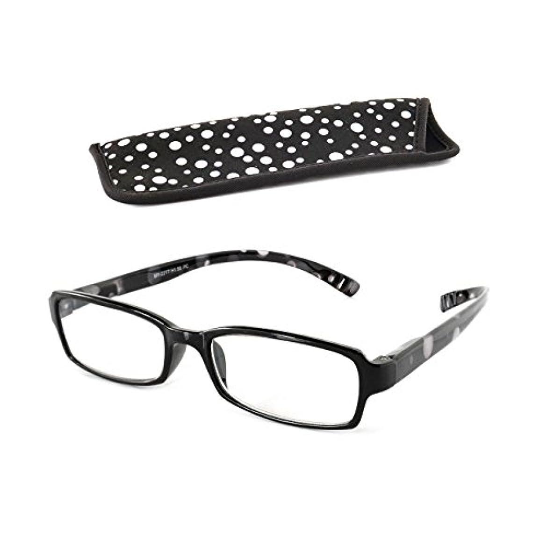 ベイライン[Bayline] 首にかけるリーディンググラス 老眼鏡 ネックリーダーズ スタンダード ドット(ブラック) 度数 +2.50
