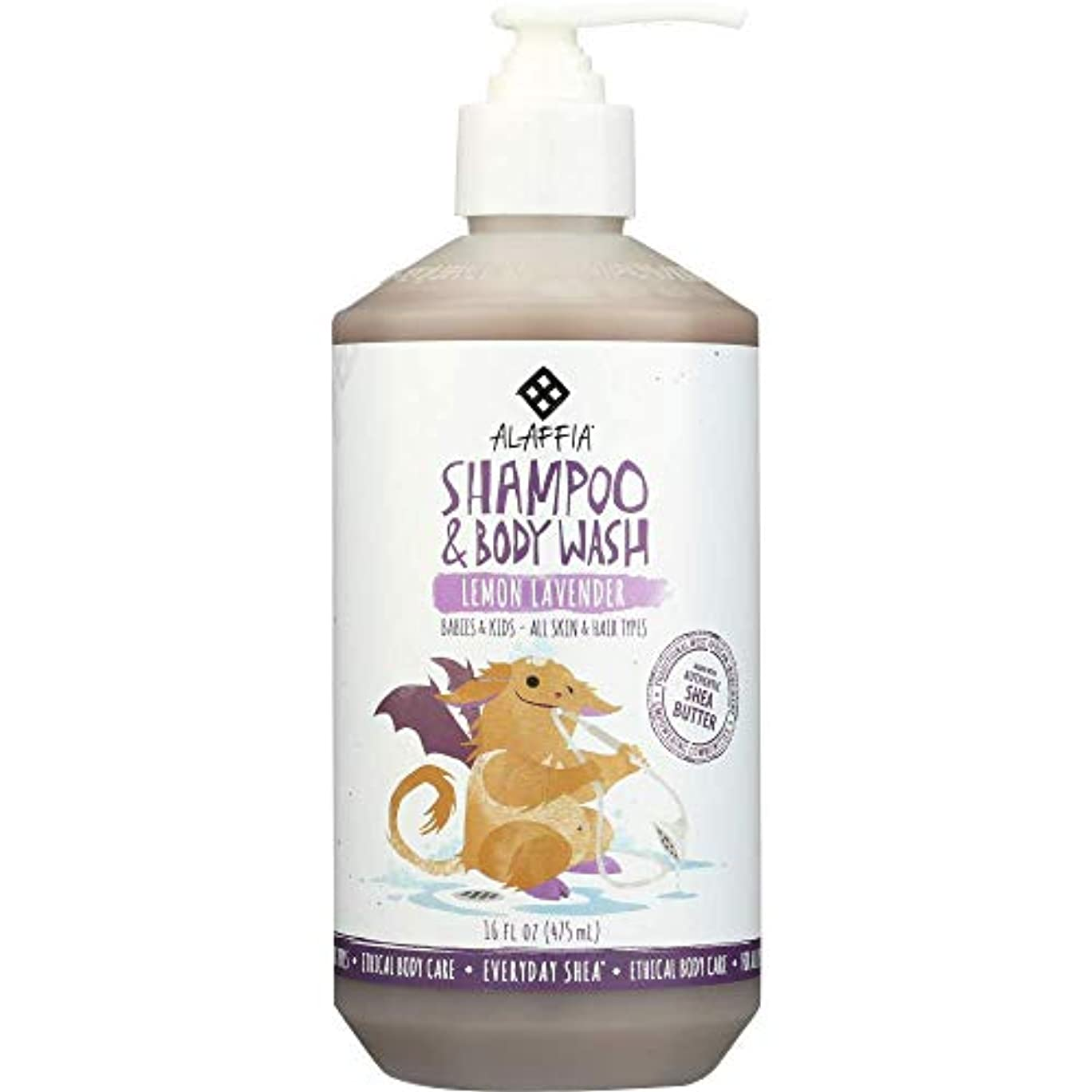 侵略リーンその後Alaffia Everyday Shea Shampoo & Body Wash for Babies and Up Lemon Lavender 16 oz Size: 16 oz CustomerPackageType...