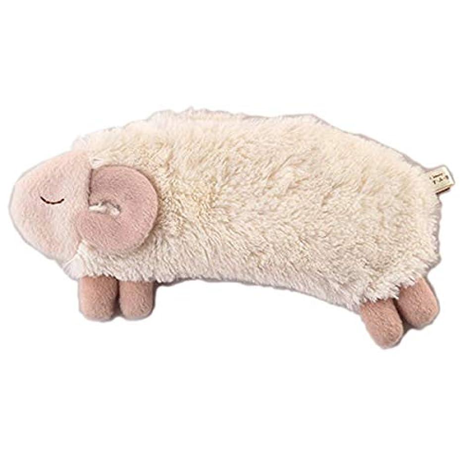 感覚目覚める思われるほんやら堂 安眠おやすみ羊 HOT&COOL アイピロー ホワイト サイズ:約H24 W10 D4 RLK38314