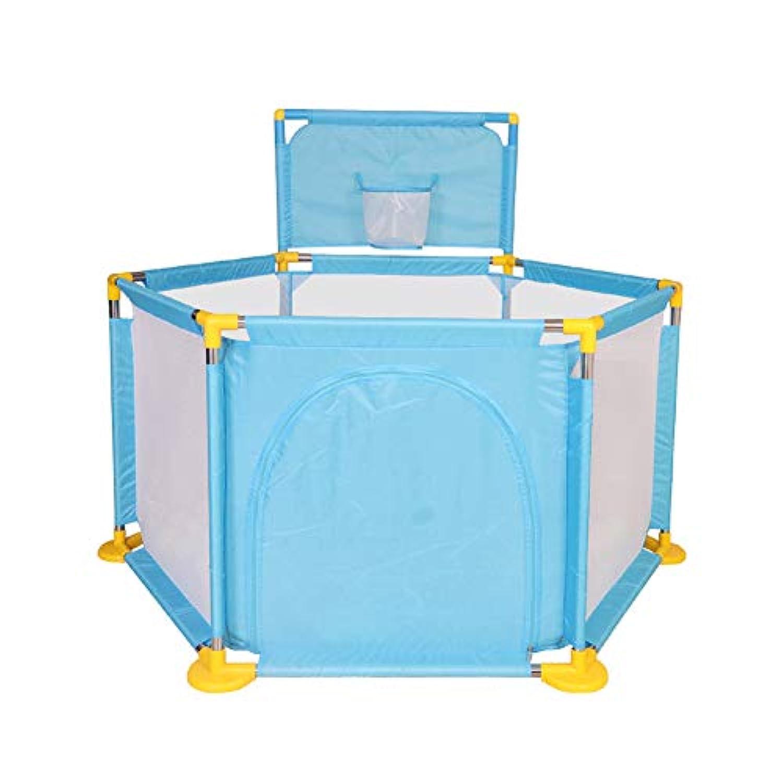 ボールのPlaypensポータブル屋内屋外と赤ちゃんのための公園新生児幼児幼児の柵 (色 : 青)