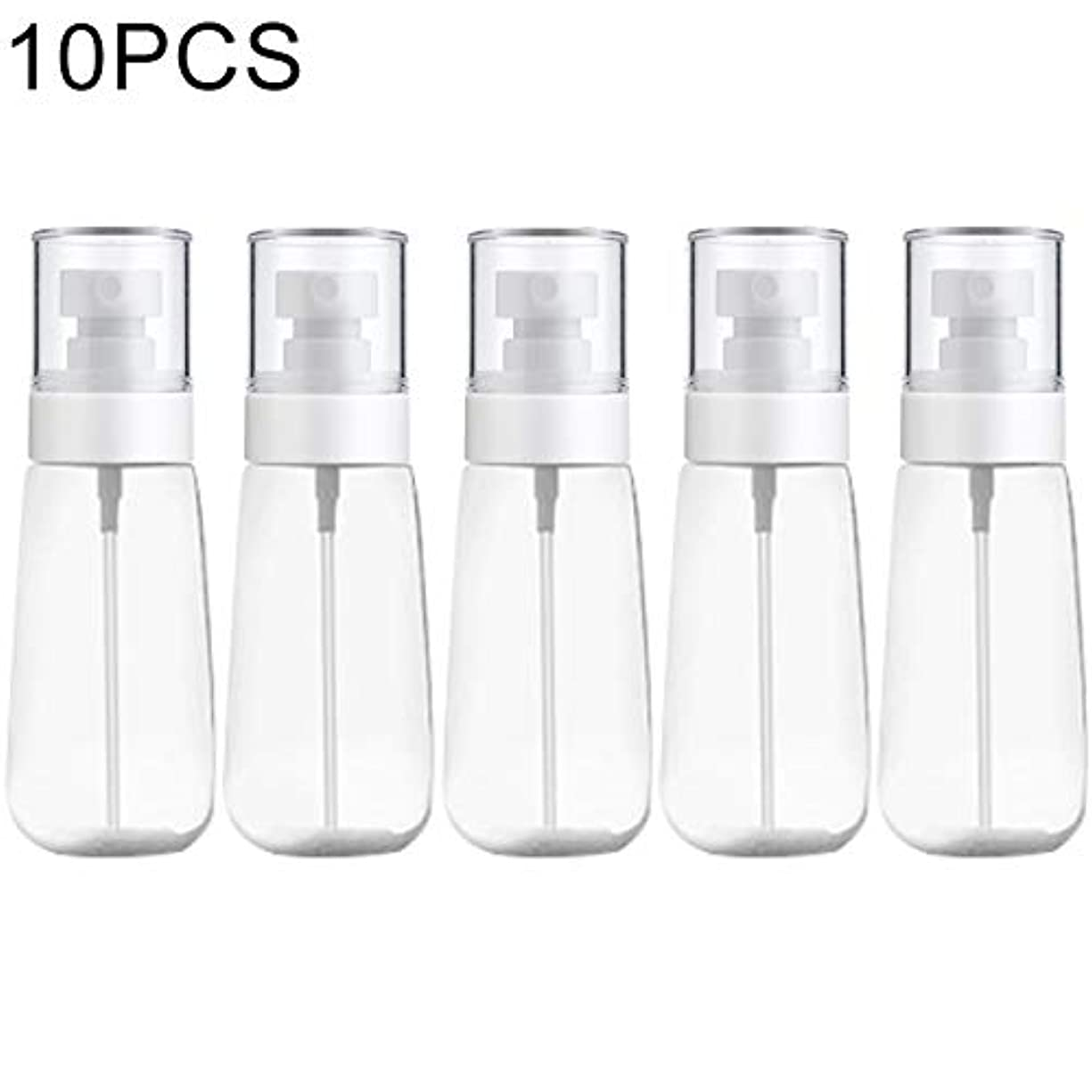 完了ピッチャーどういたしましてMEI1JIA QUELLIA 10 PCSポータブル詰め替えプラスチックファインミスト香水スプレーボトル透明な空のスプレースプレーボトル、80ミリリットル(透明) (色 : Transparent)