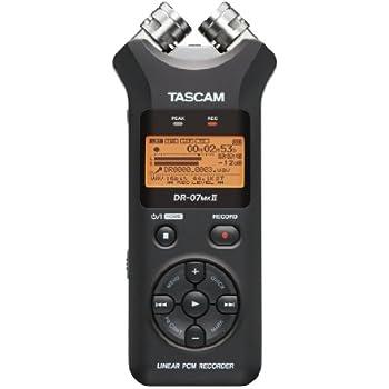 TASCAM リニアPCMレコーダー 24bit/96kHz対応 ブラック DR-07MKII