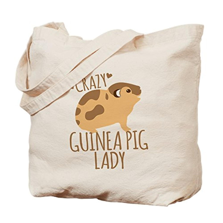 CafePress – Crazy Guinea Pig Lady – ナチュラルキャンバストートバッグ、布ショッピングバッグ S ベージュ 1474118317DECC2