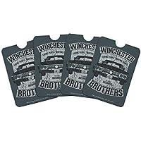 Supernatural Winchester Brother's Impala Credit Card RFID Blocker Holder Protector Wallet Purse Sleeves Set of 4