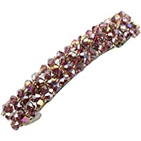 Prettyia Shiny Crystal Hair Clips Wedding Hair Pin Bridal Hairpiece Accessories Metal for Sweeping Hair up from Your Face