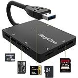 SD カード リーダー USB 3.0 マイクロ SD カード リーダー TF/Micro SD/SD/MS/XD/CF メモリ カード リーダー 5Gbps 高速データ/写真/ビデオ転送(?#33437;楗氓?