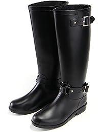 レインブーツ レディース ロング 大きいサイズ レインシューズ ラバーブーツ 雨靴 長靴 おしゃれ 無地 防水 梅雨 黒