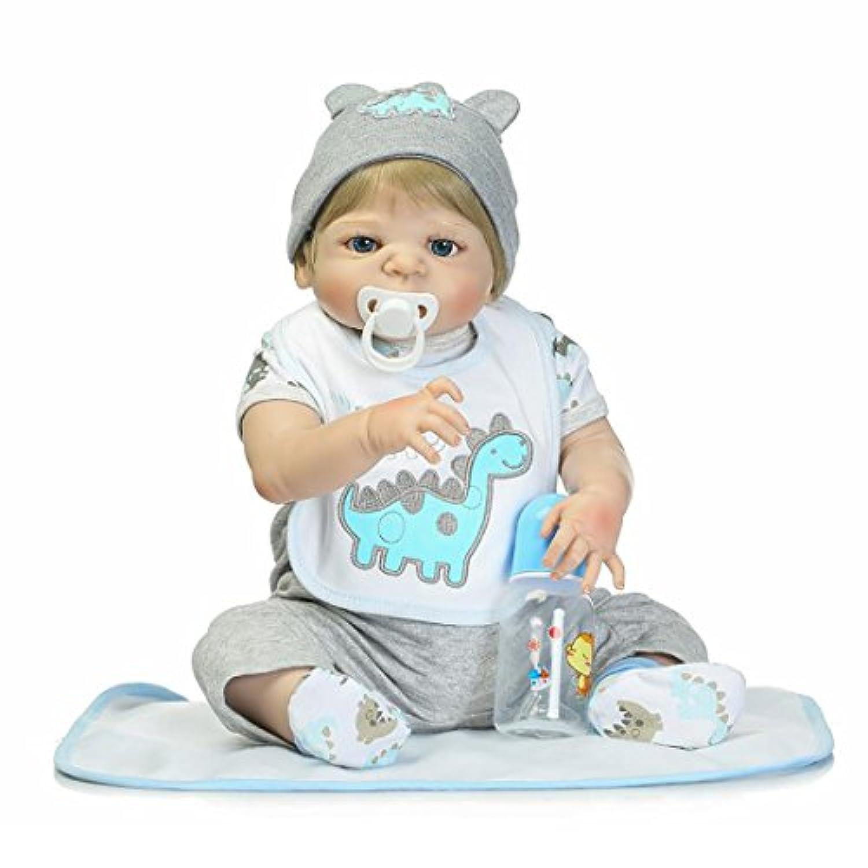 NPKCOLLECTION 人形 Babyリボーンベビードールソフトシリコンビニール22インチの57センチメートル磁気口リアルな少年少女のおもちゃアイズ睁開 Reborn Dolls JP