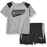PUMA Baby-Boys 01195765TME-P078 Boys' T-Shirt & Short Set Shorts Set - Gray
