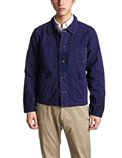 Beams orSlow Poplin Remaked Jacket 11-18-0446-611: Navy