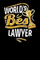 World's Best Lawyer: Small notebook for lawyers with 100 pages of lined paper