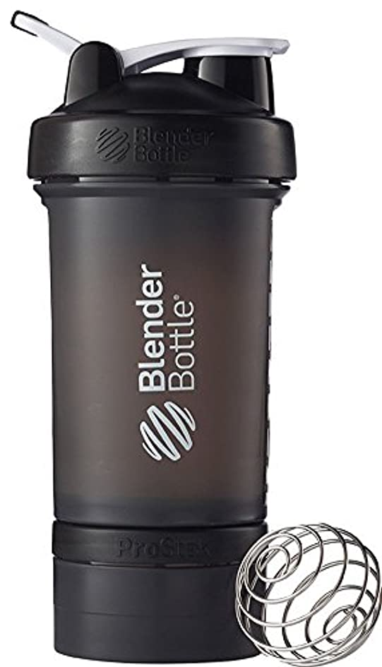 誕生日前方へブリーフケースBlender Bottle(ブレンダーボトル) Blender Bottle ProStak 22オンス(650ml) - BLACK/BLACK [並行輸入品]