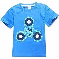 DaySeventh Boys' Hand Spinner T-Shirt Children Printing Top Clothing