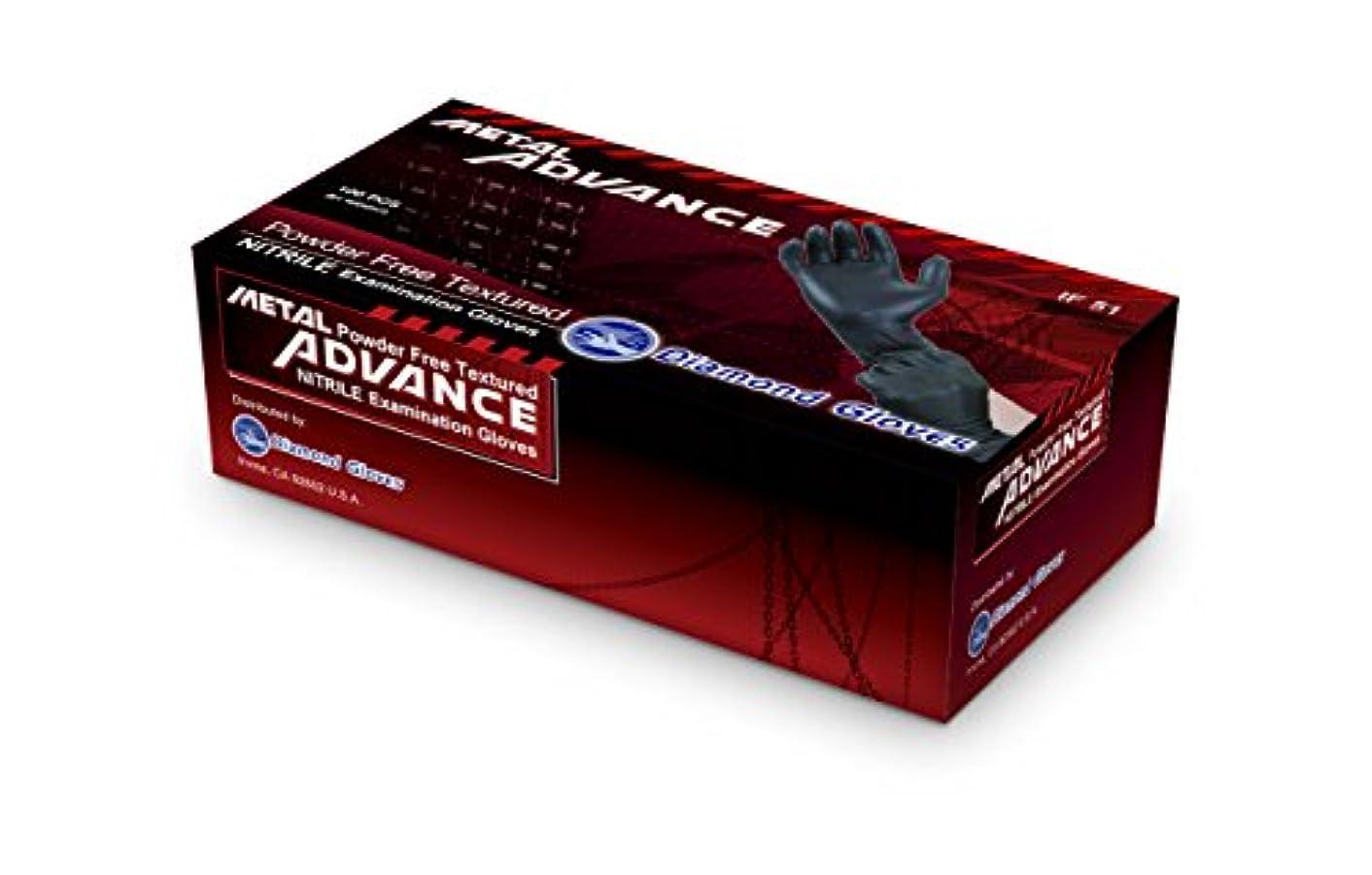 花瓶アーサー陽気なDiamond Gloves Advance Soft Nitrile Industrial Examination Grade Powder Free Gloves 5 mil Black, (Latex Free)...