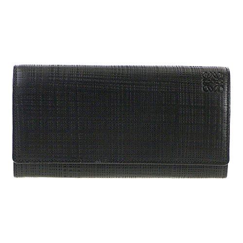 (ロエベ) LOEWE 財布 長財布 101 88 K98 1100 BLACK 【リネン】 [並行...