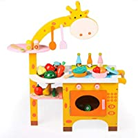 ZaiQu 子供用 おもちゃ シミュレーションゲーム シミュレーション キッチン 木製 男の子 女の子 料理セット 3-5歳の誕生日ギフト 早期教育玩具 A Z165235