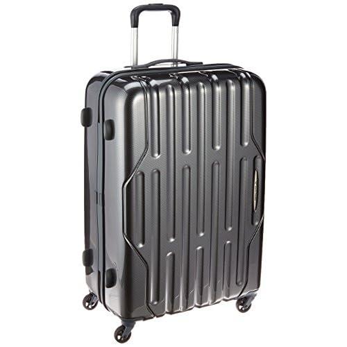 [ワールドトラベラー] World Traveler スーツケース アクシーノ 88L 4.9kg ストッパー付 無料預入受託サイズ ACE製 05608 01 (ブラックカーボン)