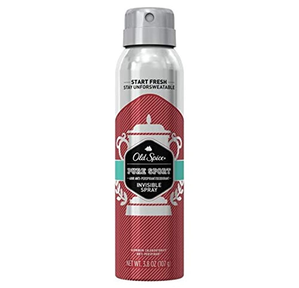 セミナーボリューム規模Old Spice Pure Sport Invisible Spray Antiperspirant and Deodorant - 3.8oz オールドスパイス インビジブルスプレー ピュアスポーツ 107g [並行輸入品]