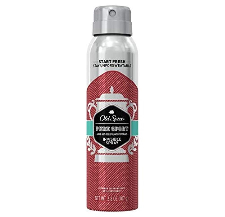 対抗考える歴史家Old Spice Pure Sport Invisible Spray Antiperspirant and Deodorant - 3.8oz オールドスパイス インビジブルスプレー ピュアスポーツ 107g [並行輸入品]