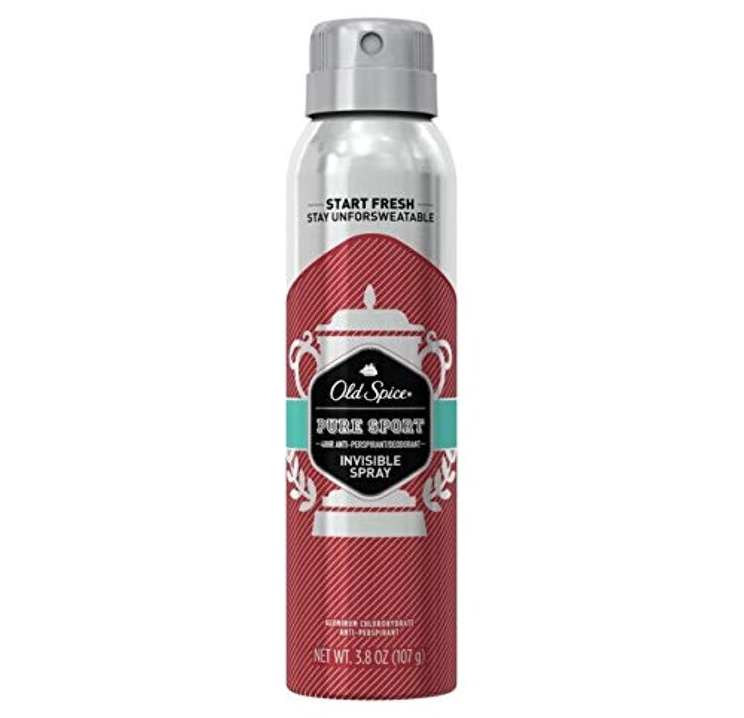Old Spice Pure Sport Invisible Spray Antiperspirant and Deodorant - 3.8oz オールドスパイス インビジブルスプレー ピュアスポーツ 107g [並行輸入品]