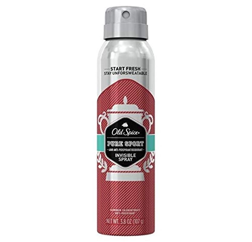 でる蒸プログラムOld Spice Pure Sport Invisible Spray Antiperspirant and Deodorant - 3.8oz オールドスパイス インビジブルスプレー ピュアスポーツ 107g [並行輸入品]