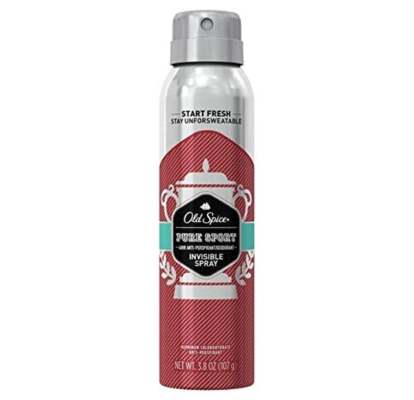 本土熟すルーチンOld Spice Pure Sport Invisible Spray Antiperspirant and Deodorant - 3.8oz オールドスパイス インビジブルスプレー ピュアスポーツ 107g [並行輸入品]