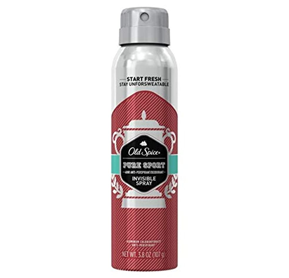 共和国大いに複雑Old Spice Pure Sport Invisible Spray Antiperspirant and Deodorant - 3.8oz オールドスパイス インビジブルスプレー ピュアスポーツ 107g [並行輸入品]