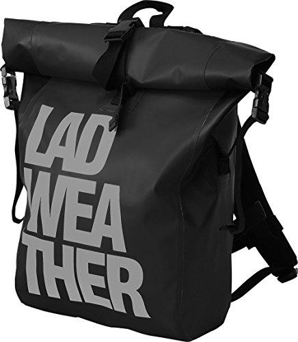 [ラドウェザー]防水リュック 大容量バッグ 25L リュックサック スポーツ アウトドア (ブラック×グレー)
