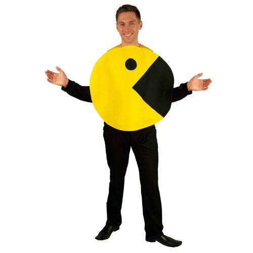 Pac-Man 2D Profile Adult Costume パックマン2Dプロファイルの大人用コスチューム♪ハロウィン♪サイズ:One-Size (Standard)