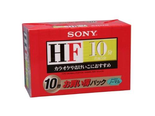 ソニー 一般用オーディオカセットテープ HF (ノーマルポジション 10分 10巻パック) 10C-10HFB