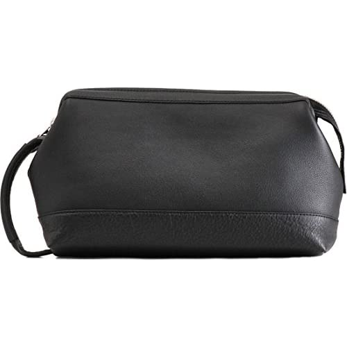 [PHILIPE LANGLET] フィリップラングレー セカンドバッグ メンズ 日本製 ソフトカーフ 口枠 ブラック