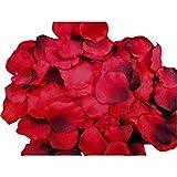 Lumierechat 造花 レッド 花びら フラワーシャワー 1000枚 結婚式 演出(赤) a-144